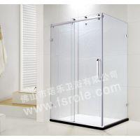 热销不锈钢钛金方型钢化玻璃浮雕工艺卫生间推拉门BR007