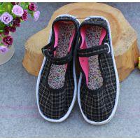 女式中老年布鞋一字扣懒人布鞋经典男款松紧带布鞋批发