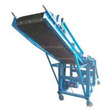 运输可调快慢皮带机 正反两转运输机 爬坡式皮带机工作原理