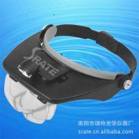 Helmet Magnifying Glass 带LED灯塑料头盔放大镜MG81001-A多镜片