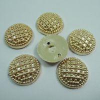 小额批发 平底电镀金色塑料纽扣 手工饰品配件