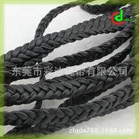 高质量手工编织牛皮绳  10MM宽皮革编织扁皮绳  皮条真皮
