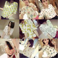 2015夏季装新款大码宽松休闲可爱卡通圆领短袖T恤女打底衫上衣潮