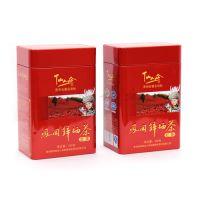 生产供应 红色外包装茶叶盒 红茶铁盒定制印刷 长方形礼品盒