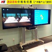 NBAVT1800-60-2A双屏会议室电视移动支架 50寸55寸60寸铝合金推车
