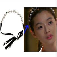 现货原版特价韩版 来自星星的你!全智贤 珍珠宝石坠发带 发饰