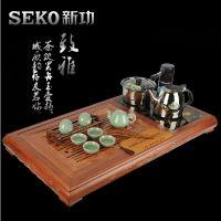 SEKO/新功 F30红坚木组合茶盘 四合一电热炉套装实木茶盘批发