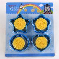 新品 香港正的 立体饼干模具 火车头托马斯饼干模8件套 饼干切模