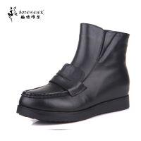 特大号女鞋40-43舶特唯尔加大号女靴休闲平底短靴棉靴子7730-2