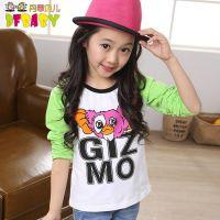 童装2015女童春装新款大童卡通体恤 韩版上衣长袖打底衫儿童T恤