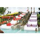 Fiberglass Kids' Water Slides, Outdoor Pool Water Slide For Children 1.5m Height