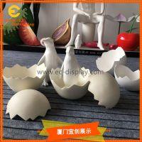 橱窗美陈装饰孵化蛋壳道具