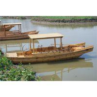 双桨手划木船 5米旅游观光单蓬船 水乡景区观光木船 款式可定制