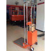 供应400kg轻型电动升高车 半电动液压叉车 适用于工厂物料搬运
