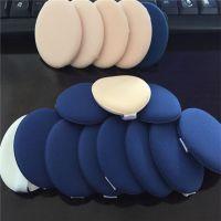 深圳同球厂家生产气垫BB霜带皮粉扑,国产皮革加进口非乳胶气垫