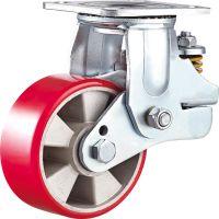 【威霸脚轮厂】直销5/6/8寸重型万向铝芯聚氨酯减震脚轮