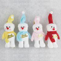 圣诞装饰摆件 圣诞节礼品 高档圣诞娃娃泡沫围巾雪人 高12cm