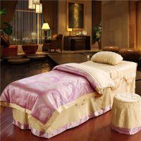 高档 美容床罩四件套 纯棉全棉美容院床单床罩专业定做厂家直销