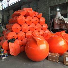 江苏直径80公分水上塑料浮球 张家港PE养殖塑料浮体航标