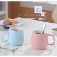 陶瓷色釉杯 情侣杯 广告杯定制 牛奶咖啡杯 礼品赠送促销杯