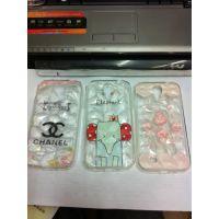 钻石纹彩印透色手机保护套   型号齐全  钻石纹 tpu小清新手机壳