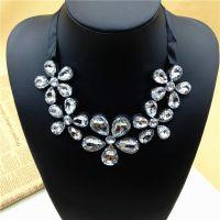 Ebay速卖通热销夸张欧美韩版大牌时尚不规则宝石水晶颈项链 批发