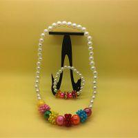 2元店饰品新款儿童饰品 珍珠项链套装两件套 淘宝童装店货源