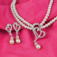 新款韩式珍珠水钻结婚新娘项链套装配饰品 厂家批发 可混批G180