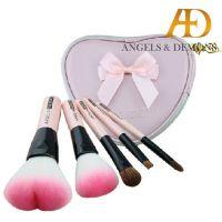 5支套化妆刷 心形 可爱 化妆刷  送刷包 天使与魔鬼