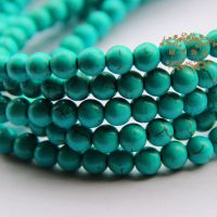 diy饰品配件批发 绿松石散珠子圆珠 手工串珠材料 特价按条批发