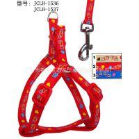 厂家直销 2013新款时尚串链印花宠物牵引绳胸背带 淘宝热销狗绳