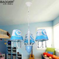 儿童房灯具 简约现代 创意led男孩卧室节能灯 儿童房吊灯饰