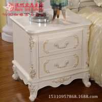 宏鸟004欧式家具 红橡原木床头柜 实木床头柜 定制家具 实木套房