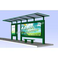 候车亭灯箱制作 公交站台厂家提供新款候车亭尺寸材质
