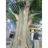 餐厅仿真榕树造景 生态餐厅 榕树 厂家定做 广州现场施工仿真树安装