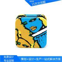 迷你手工皂小铁盒包装、翻盖彩妆铁皮盒子、精美空罐加工定做