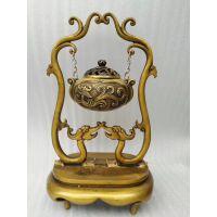 供应定制加工铜雕摆件香炉