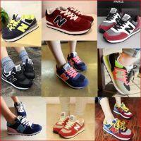韩国百搭球鞋运动休闲N字母鞋松糕跟阿甘鞋韩版女潮n仔鞋子慢跑鞋