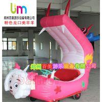 辽宁沈阳广场新款充气气模玩具车,彩灯电瓶车,充气电瓶车款式升级