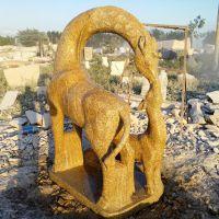 天然大理石长颈鹿雕刻厂家