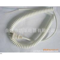 商家批发供应美式弹簧线插头  白色弹簧线插头  美规弹簧线插头