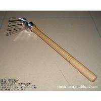 园林工具不锈钢四柱扒 锄头