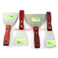 精品不锈钢油灰刀 高档加厚型木柄铲刀 刮刀抹刀 腻子灰刀清洁刀