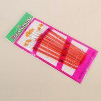 批发美术文具油画笔初学排笔水粉笔尼龙画笔水彩笔12支套装