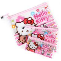 hellokitty可爱卡通透明文件袋A4资料票据夹韩国文具办公用品笔袋