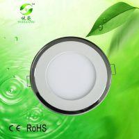 15wLED双色面板灯深圳直供15W照明工程灯具双色LED圆形面板灯