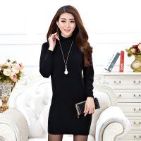 2016新款高档貂绒毛衣女韩版半高领套头貂绒打底衫修身纯色长袖针织衫