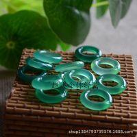巴西天然石头绿玛瑙水泡圈 18mm圆圈 圆环项链吊坠散装DIY配件
