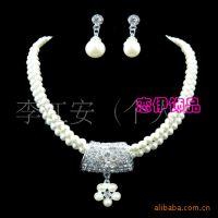 新娘珍珠项链水钻饰品结婚首饰婚纱配饰饰品