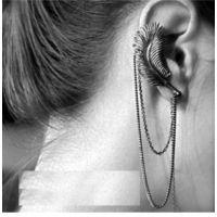 欧美潮流羽毛耳骨夹 流苏长链耳夹 耳环 速卖通货源 ALQE2014079